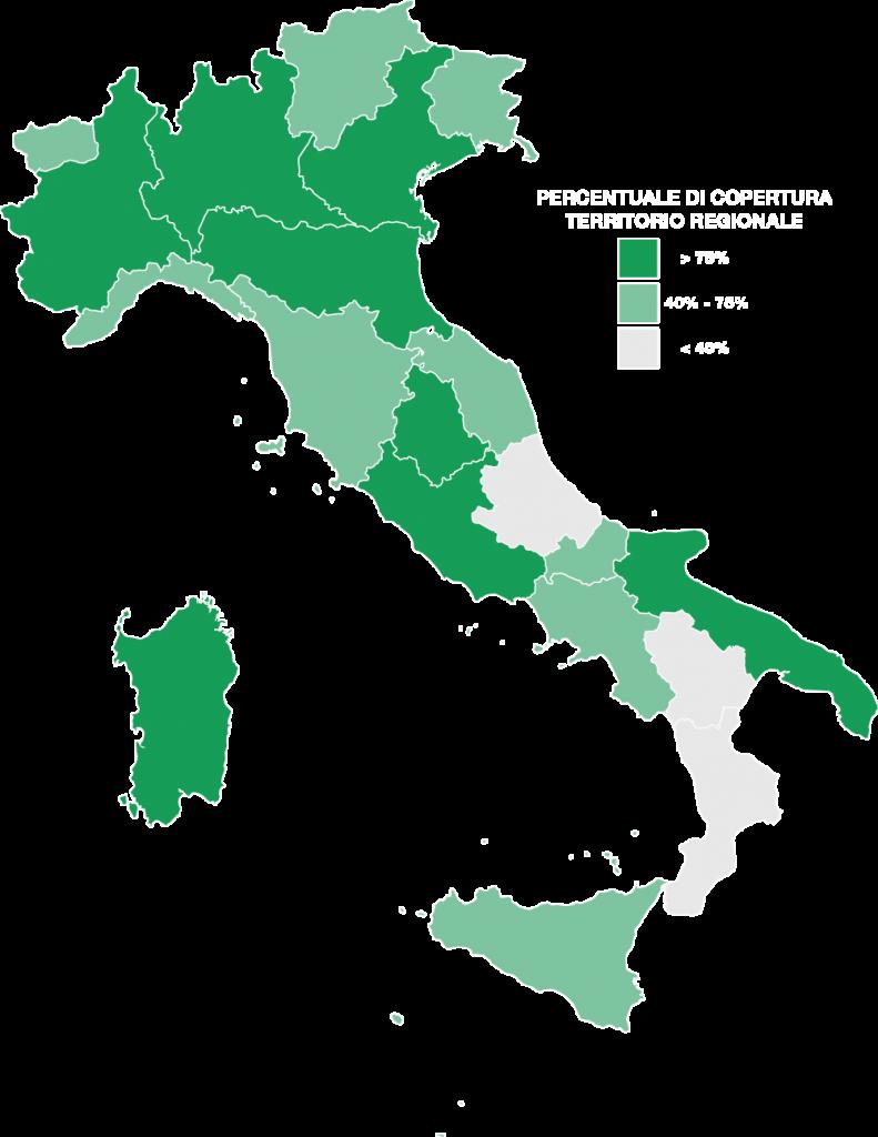 Mappa copertura fotografi certificati in Italia