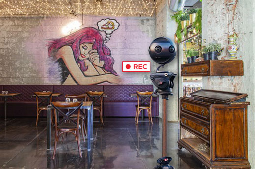 Riprese video a 360° per Pizzeria Mani in Pasta a Milano
