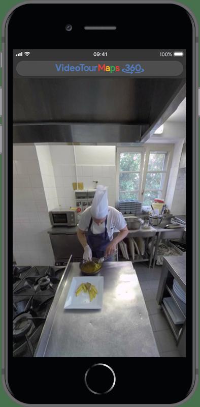 Video Tour Virtuale Varese su smartphone - Ristorante Tana d'Orso