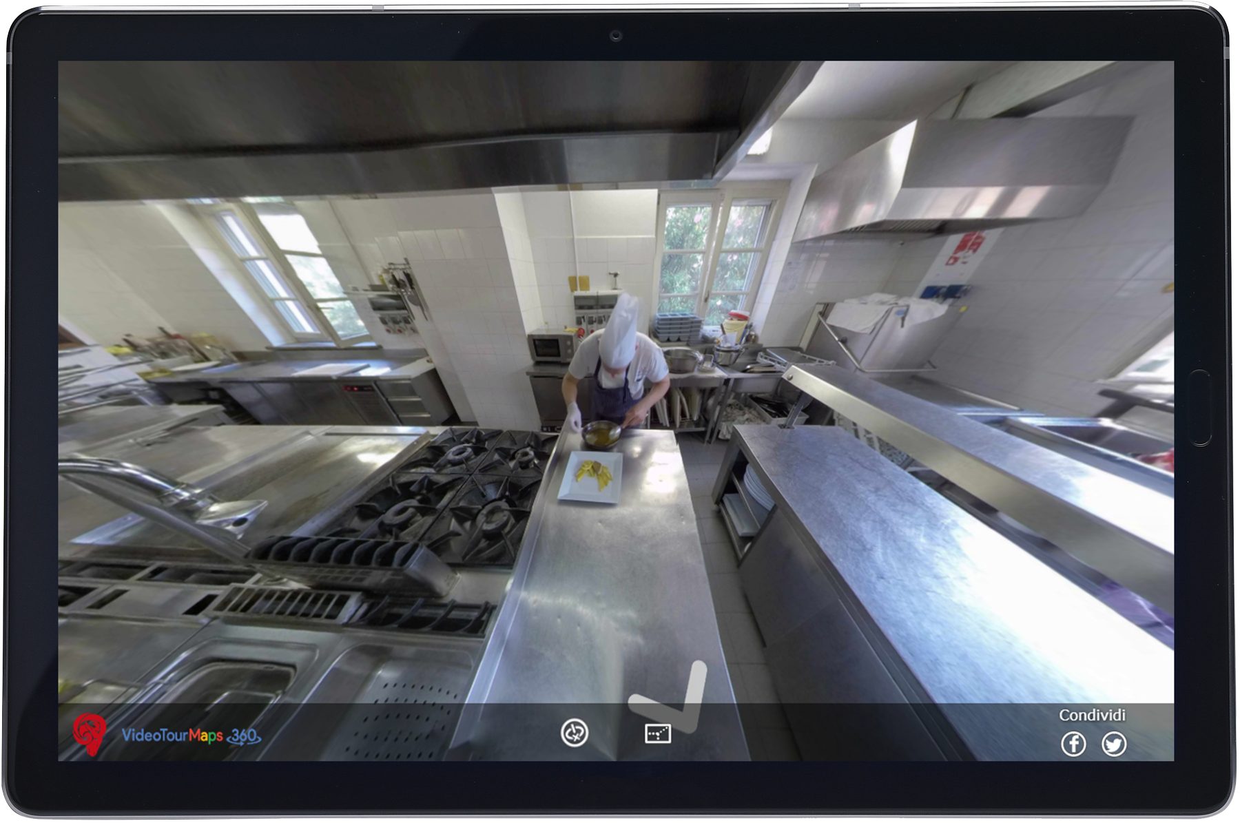 Video Tour Virtuale Varese su tablet - Ristorante Tana d'Orso
